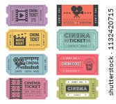template of cinema tickets.... | Shutterstock .eps vector #1132420715