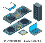 dj studio. music tools for... | Shutterstock .eps vector #1132420766