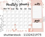 cute monthly planner with... | Shutterstock .eps vector #1132421975