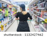 back view of hipster woman... | Shutterstock . vector #1132427462