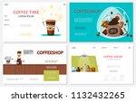 flat coffee time websites set... | Shutterstock .eps vector #1132432265
