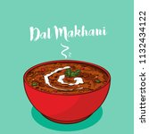 indian traditional cuisine dal... | Shutterstock .eps vector #1132434122