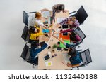 top view scene of asian and... | Shutterstock . vector #1132440188