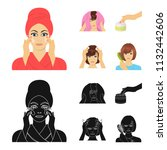 cosmetic  salon  hygiene  and...   Shutterstock .eps vector #1132442606