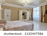 bedroom with a beautiful... | Shutterstock . vector #1132447586