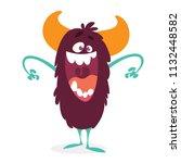 angry cartoon monster. vector...   Shutterstock .eps vector #1132448582