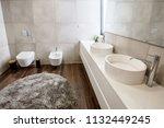 luxury bathroom interior with... | Shutterstock . vector #1132449245