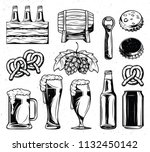 isolated illustration set with... | Shutterstock . vector #1132450142