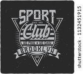 vintage label design with...   Shutterstock . vector #1132451915