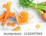 Mason Jar With Carrot Juice And ...