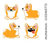 cute cartoon set with dogs of...   Shutterstock .eps vector #1132465772