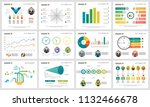 colorful analysis charts set... | Shutterstock .eps vector #1132466678