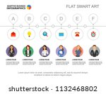six coworkers process chart... | Shutterstock .eps vector #1132468802