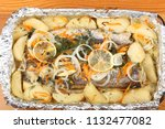 a marinated hake with potatoes...