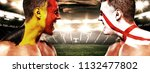 soccer or football fan athlete... | Shutterstock . vector #1132477802