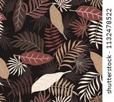 tropical background with palm... | Shutterstock .eps vector #1132478522