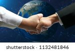 business connection concept     ... | Shutterstock . vector #1132481846