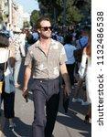 milan   june 17  man with beige ... | Shutterstock . vector #1132486538