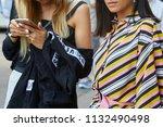 milan   june 16  woman with...   Shutterstock . vector #1132490498