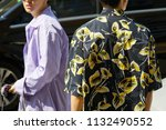 milan   june 17  men with... | Shutterstock . vector #1132490552