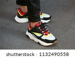 milan   june 17  man with white ...   Shutterstock . vector #1132490558