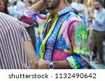 milan   june 16  man with... | Shutterstock . vector #1132490642