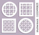 templates for laser cutting ... | Shutterstock .eps vector #1132490825