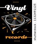 vinyl records turntable musical ...   Shutterstock .eps vector #1132491125