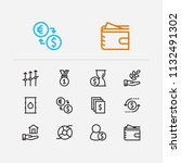 economy icons set. time money...