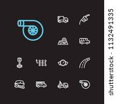 car icons set. fuel pump and... | Shutterstock .eps vector #1132491335