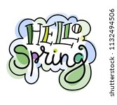 hello spring. colorful...   Shutterstock .eps vector #1132494506