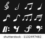 white freehead music note icons ... | Shutterstock .eps vector #1132497482