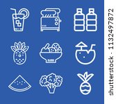 food related set of 9 icons... | Shutterstock . vector #1132497872