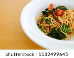 Small photo of spaghetti spicy drunken, spicy stir fried noodle