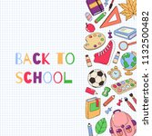 back to school template. set of ... | Shutterstock .eps vector #1132500482