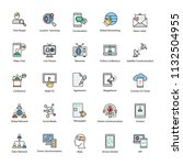networking flat vector icons...   Shutterstock .eps vector #1132504955