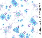 small floral seamless pattern...   Shutterstock .eps vector #1132507712
