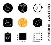 ui ux glyph icons set. userpic  ...