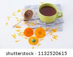 marigold or calendula herbal... | Shutterstock . vector #1132520615