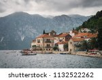 perast town in the bay of kotor ... | Shutterstock . vector #1132522262