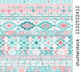 ethnic mexican tribal motifs... | Shutterstock .eps vector #1132522412