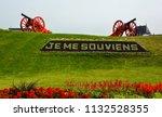 quebec city quebec canada 07 09 ... | Shutterstock . vector #1132528355