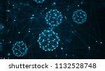 molecules concept. abstract... | Shutterstock . vector #1132528748