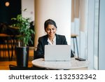 business portrait of a young... | Shutterstock . vector #1132532342
