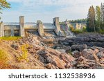 the dam of imatra   the main... | Shutterstock . vector #1132538936