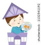illustration of a kid boy... | Shutterstock .eps vector #1132541192