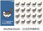 set of cute ramen bowl emoji...   Shutterstock .eps vector #1132548842