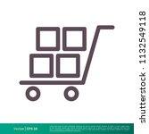 cargo cart icon vector logo... | Shutterstock .eps vector #1132549118
