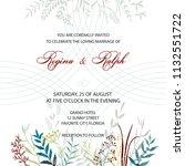 wedding invitation. card ... | Shutterstock .eps vector #1132551722