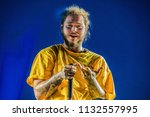 post malone performance at rock ... | Shutterstock . vector #1132557995
